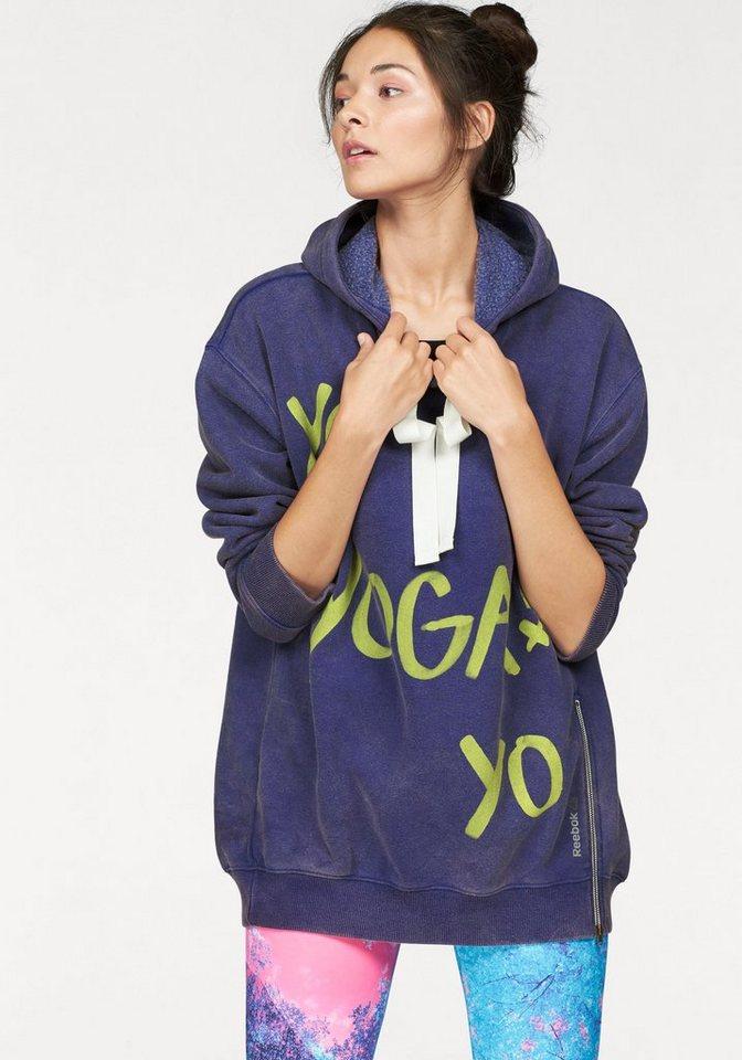 Reebok Kapuzensweatshirt »YOGA Graphic Hoodie« in lila