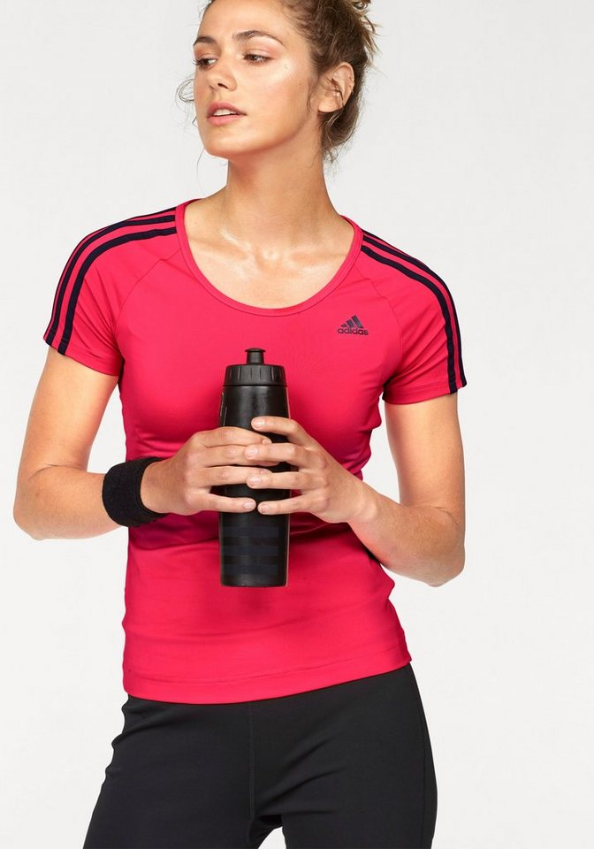 adidas Performance Funktionsshirt »BASIC 3S TEE« in rot