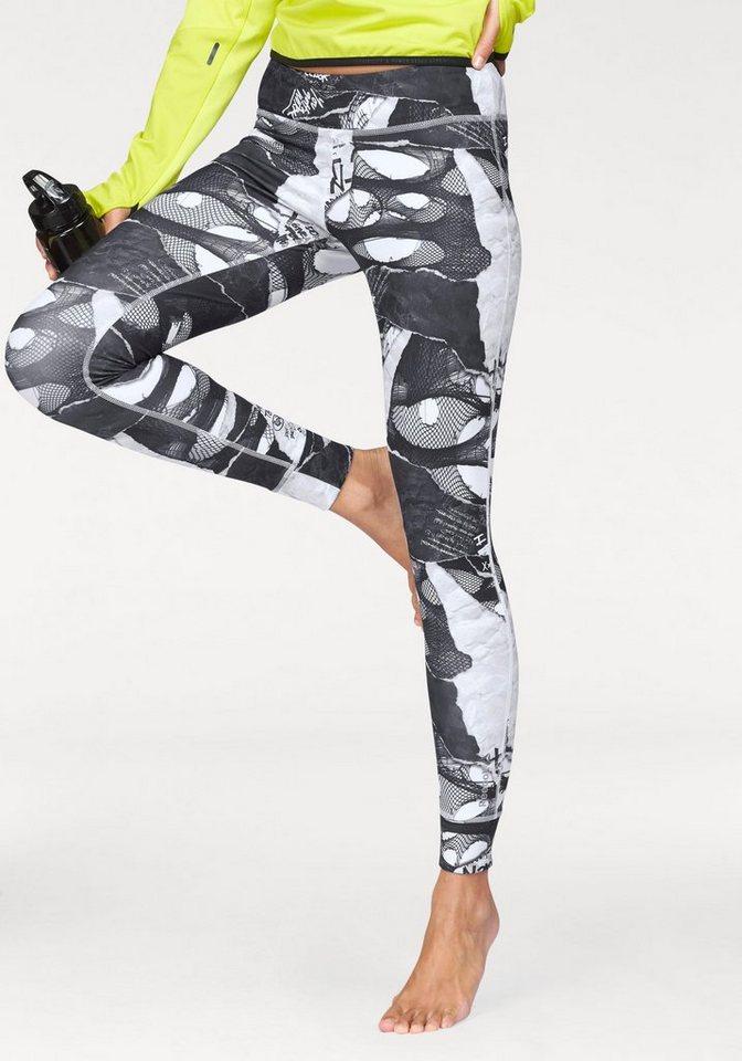 Reebok Leggings »DANCE Shredded Punk Tight« in schwarz-gemustert