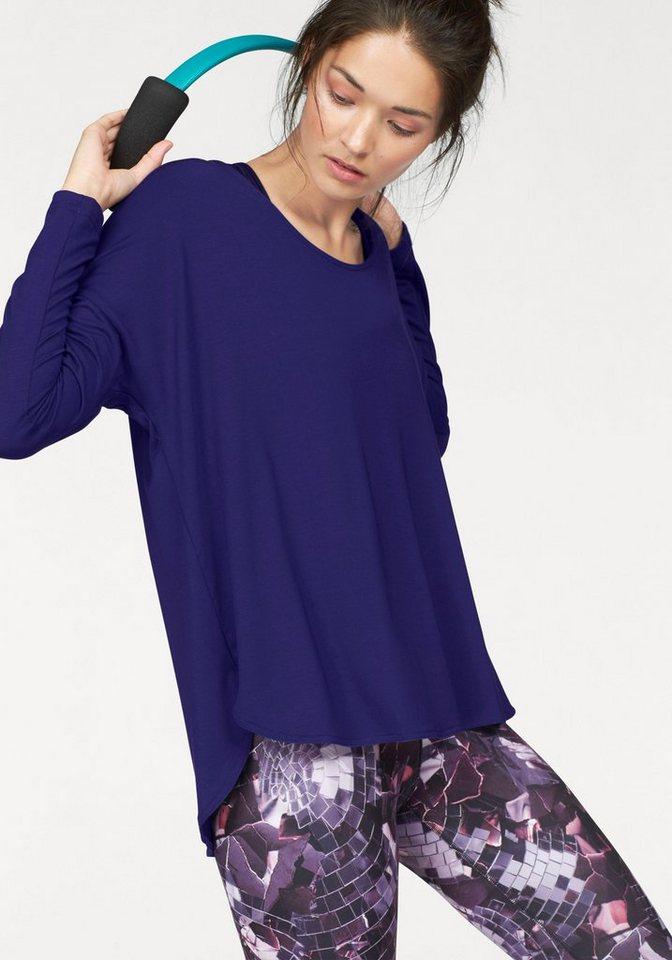 Reebok Langarmshirt »STUDIO LUX Wool Blend Cover Up« in lila