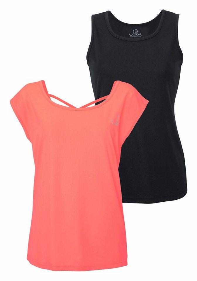 Maria Höfl-Riesch T-Shirt in koralle+schwarz