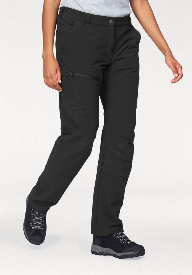 Maier Sports Trekkinghose Innenseite mit weich angerautem Fleece in schwarz