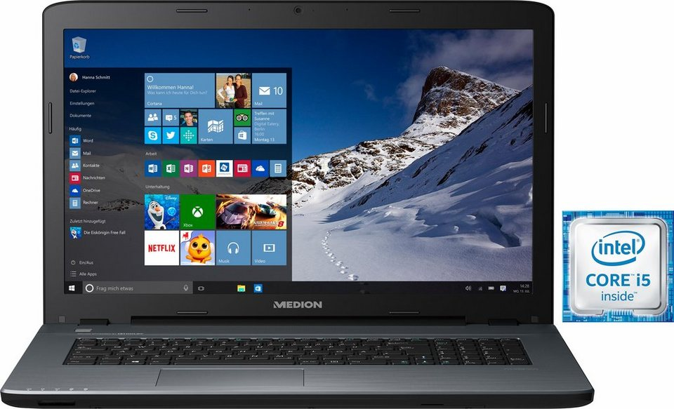 Medion® P7461 Notebook, Intel® Core™ i5, 43,9 cm (17,3 Zoll), 1000 GB Speicher, 8192 MB DDR3L in schwarz
