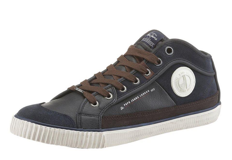Pepe Jeans »Industry« Sneaker in marine-braun-dunkelblau