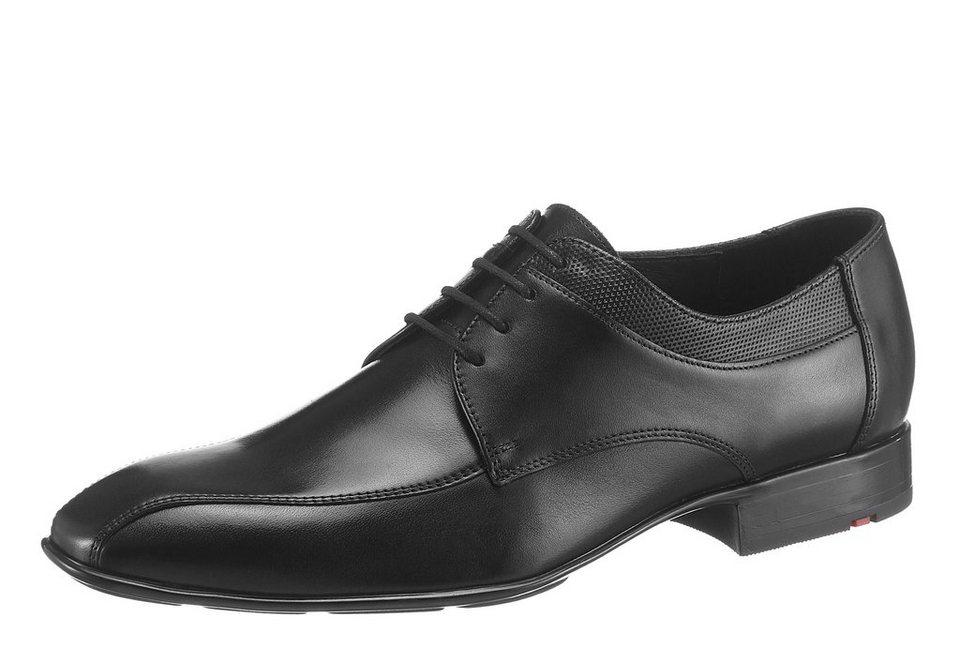 Lloyd »Kenia« Schnürschuh mit Prägung in schwarz