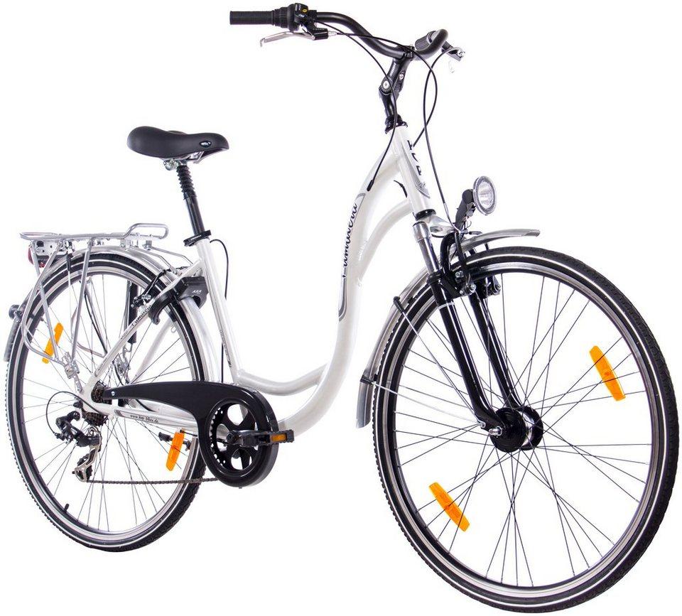 Citybike Damen »Primavera«, 28 Zoll, 7 Gang, V-Bremsen in weiß