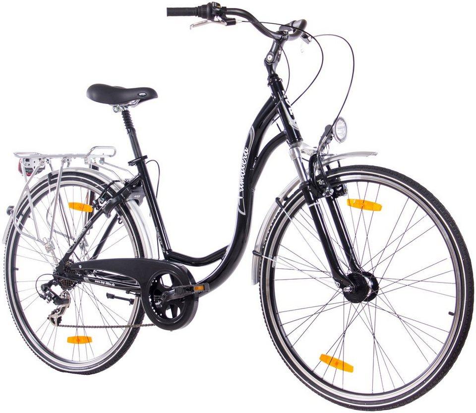 KCP Citybike Damen »Primavera«, 28 Zoll, 7 Gang, V-Bremsen in schwarz