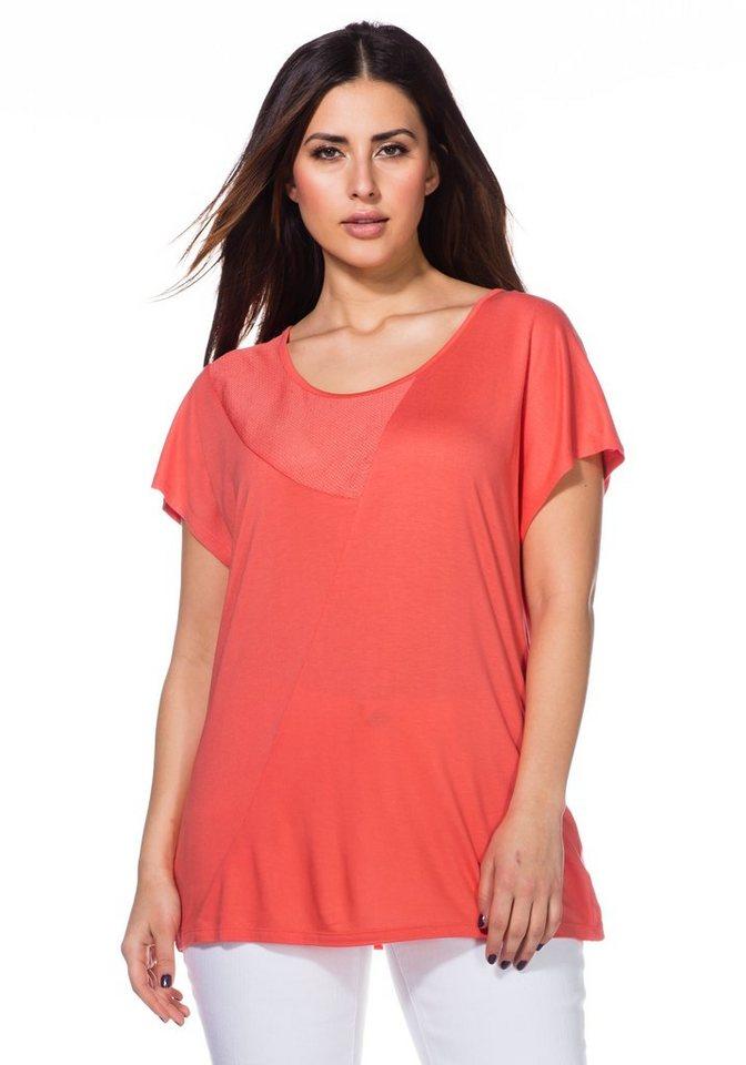 sheego Trend T-Shirt in korallrot