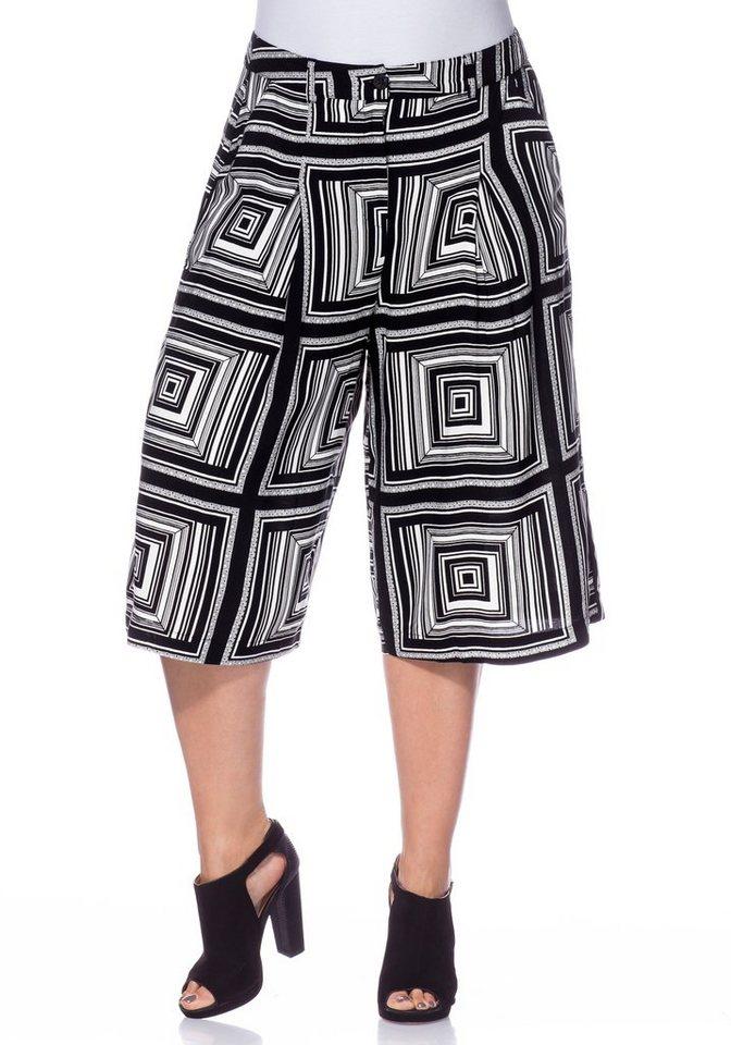 sheego Trend Culotte in schwarz-weiß