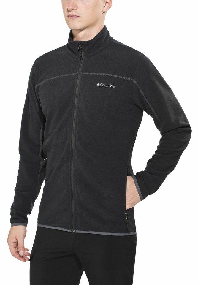 Columbia Outdoorjacke »Trails Edge Fleece Jacket Men« in schwarz