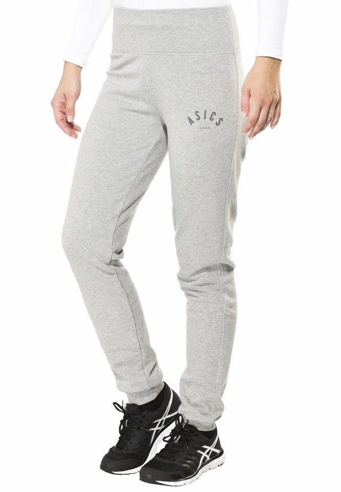 asics Jogginghose »Logo Cuffed Pant Women« in grau