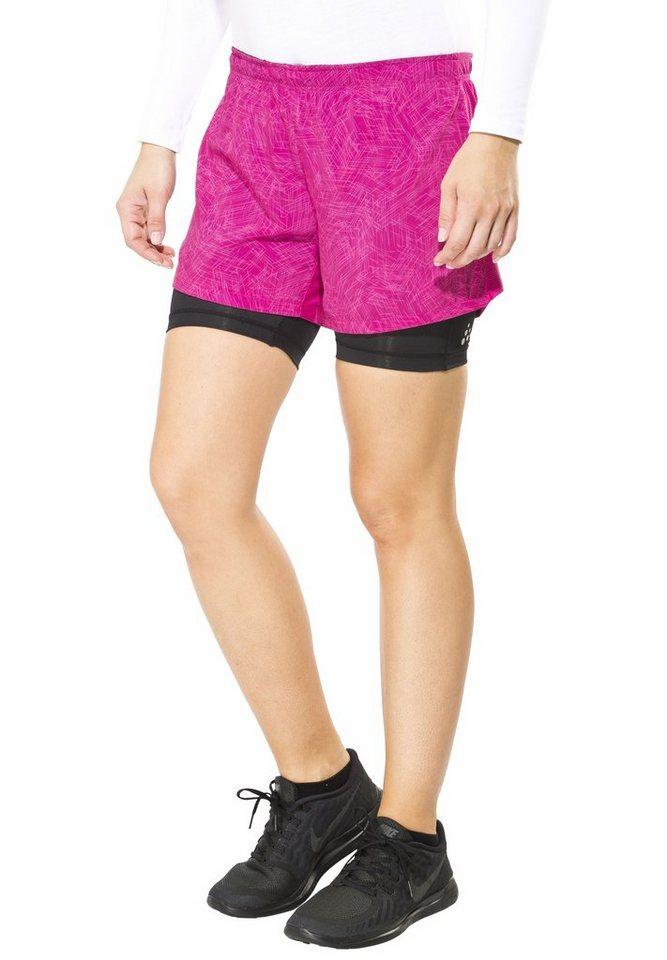 Craft Jogginghose »Focus 2-In-1 Shorts Women« in pink
