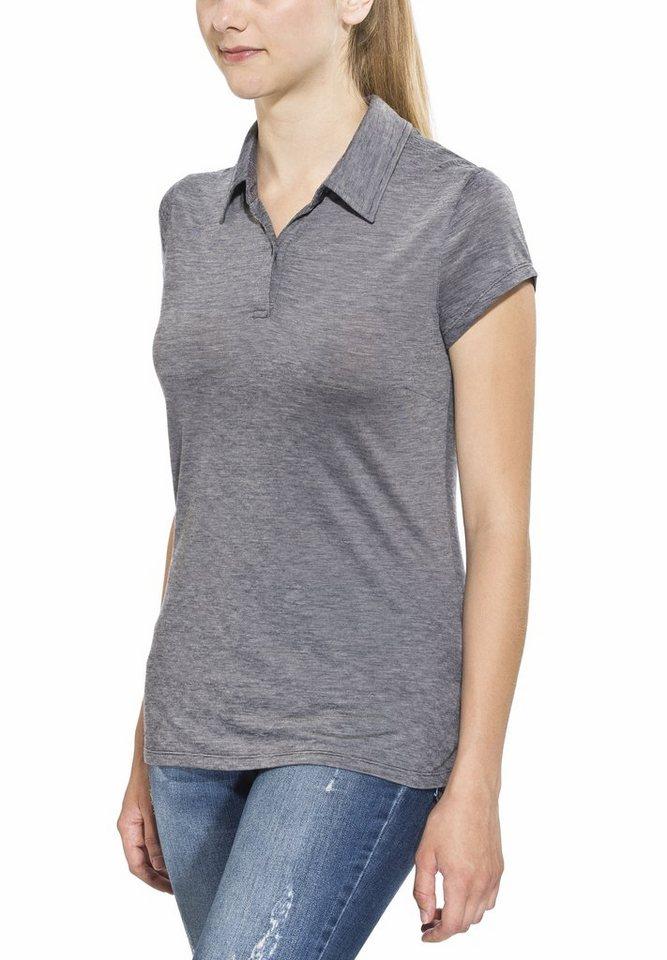 Icebreaker T-Shirt »Sphere SS Polo Stripe Women« in grau