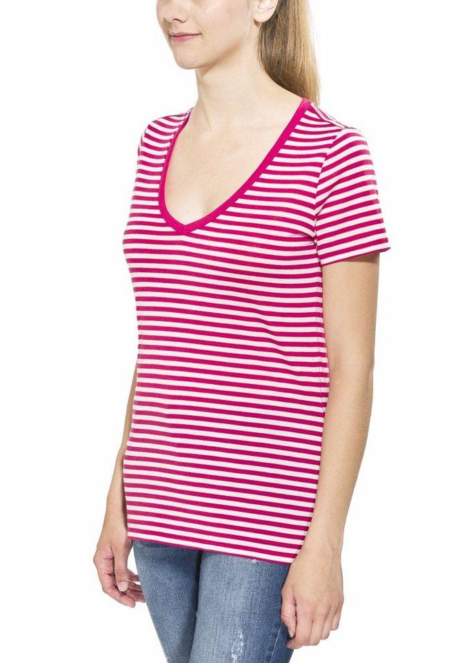 Icebreaker T-Shirt »Tech Lite SS V Stripe Women« in pink