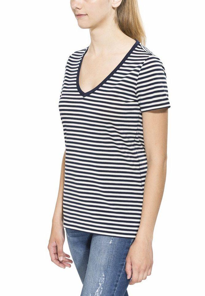 Icebreaker T-Shirt »Tech Lite SS V Stripe Women« in blau