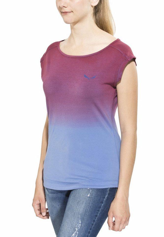 Salewa T-Shirt »Frea Faded S/S Tee Women CO« in rot