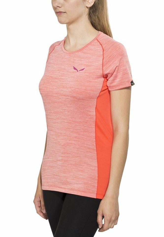 Salewa T-Shirt »Pedroc Dry SS Tee Women« in orange