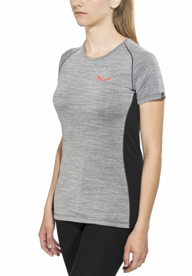 Salewa T-Shirt »Pedroc Dry SS Tee Women« in grau