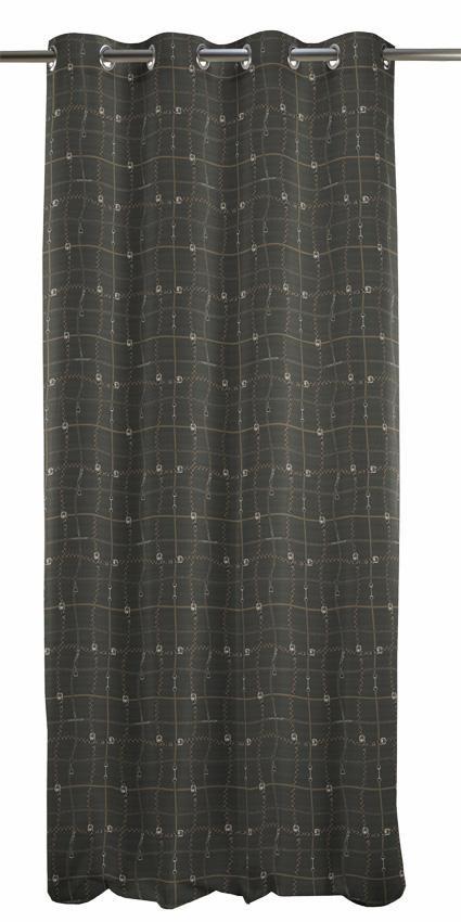 Vorhang, Apelt, »Cambridge«, mit Ösen (1 Stück) in braun