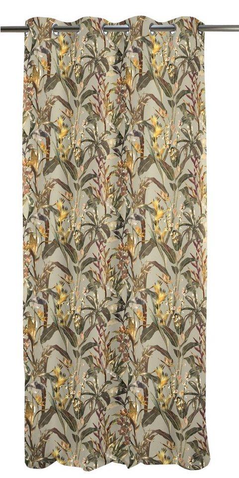 Vorhang, Apelt, »Exotic«, mit Ösen (1 Stück) in braun