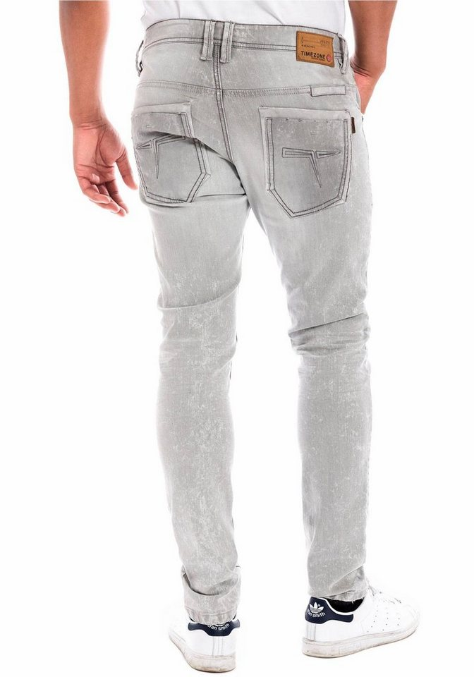TIMEZONE Straight-Jeans »Gerrit« in grey-shadow-wash