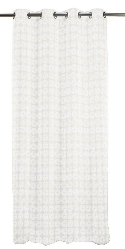 Vorhang, Apelt, »Samba«, mit Ösen (1 Stück) in weiß