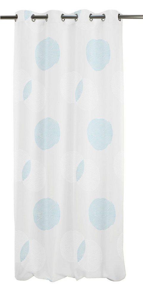 Vorhang, Apelt, »Centro« (1 Stück) in weiß/türkis
