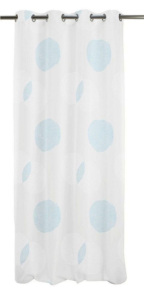 Vorhang, Apelt, »Centro«, mit Ösen (1 Stück) in weiß/türkis