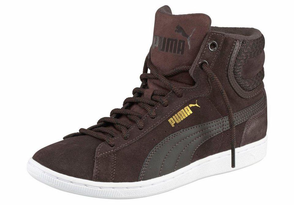 PUMA »PUMA Vikky Mid Twill« Sneaker in dunkelbraun