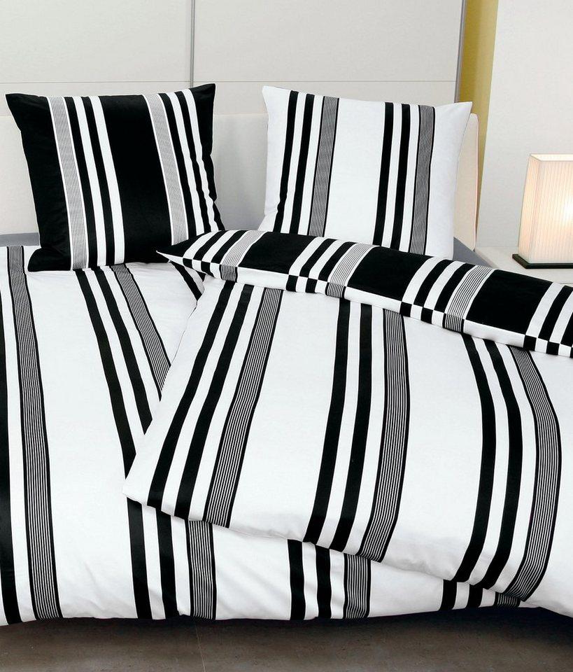 Wendebettwäsche, Janine, »Lippi«, mit besonderen Streifen in schwarz-weiß