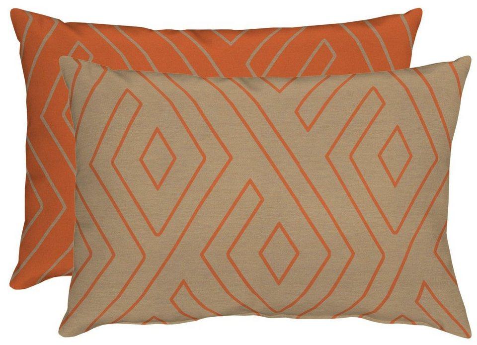 Kissen, Apelt, »Mistral« (1 Stück) in orange/beige