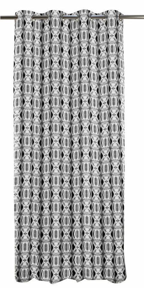 Vorhang, Apelt, »Kosmos«, mit Ösen (1 Stück) in anthrazit/weiß
