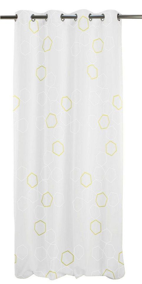 Vorhang, Apelt, »Space«, mit Ösen (1 Stück) in weiß/grün