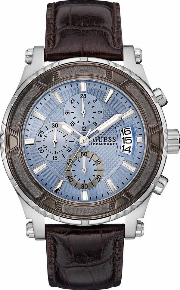 Guess Chronograph »W0673G1« in dunkelbraun