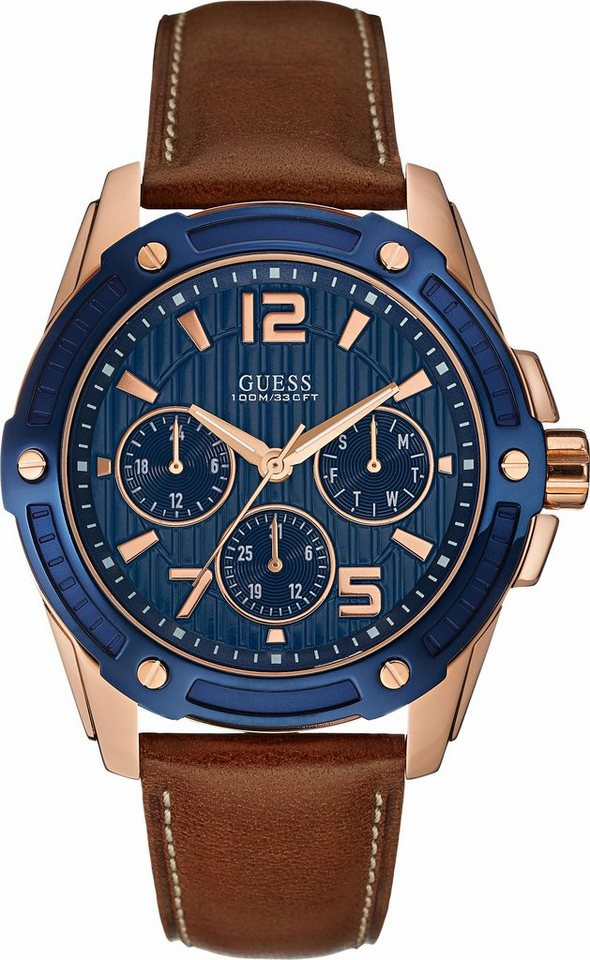 Guess Multifunktionsuhr »W0600G3« in braun