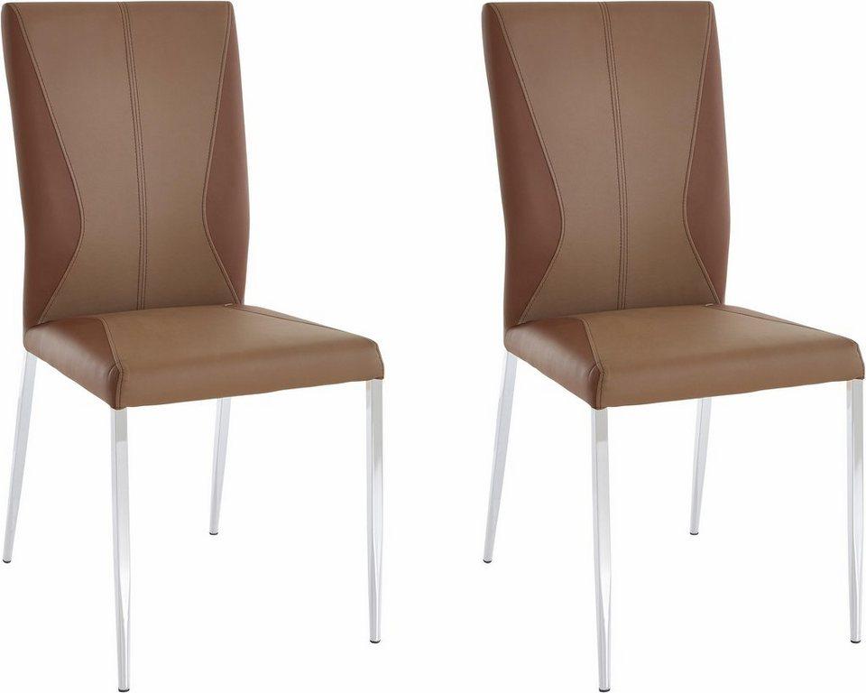 Stühle (2 oder 4 Stück) in cappuccino/braun