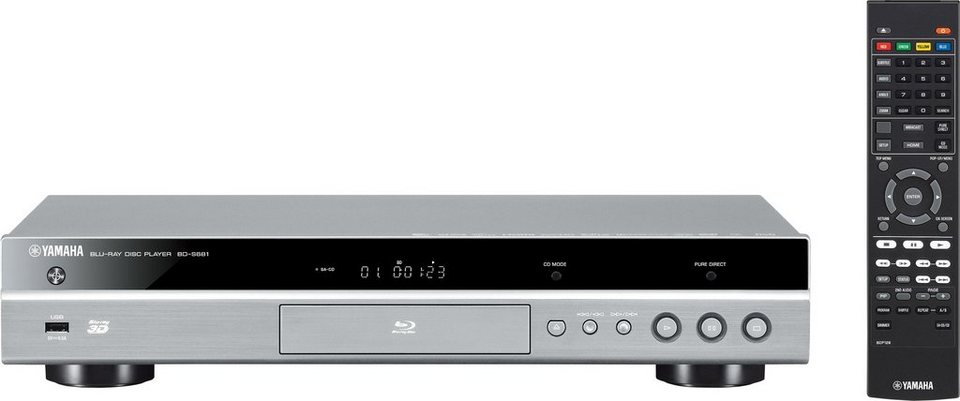 BD-S681 3D Blu-ray-Player, 3D-fähig, 4K (Ultra-HD), WLAN in silberfarben