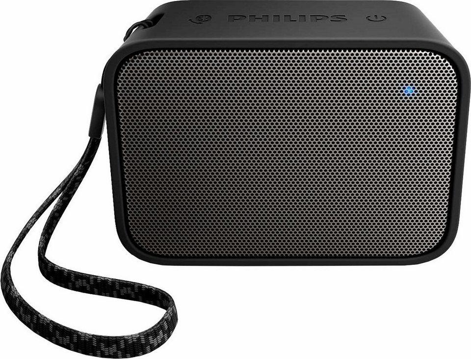 Philips BT110 Bluetooth-Lautsprecher in schwarz