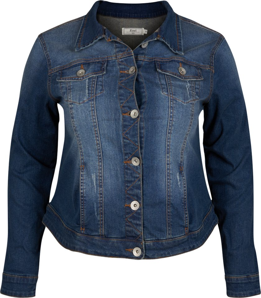 Zizzi Jacke in Blue denim