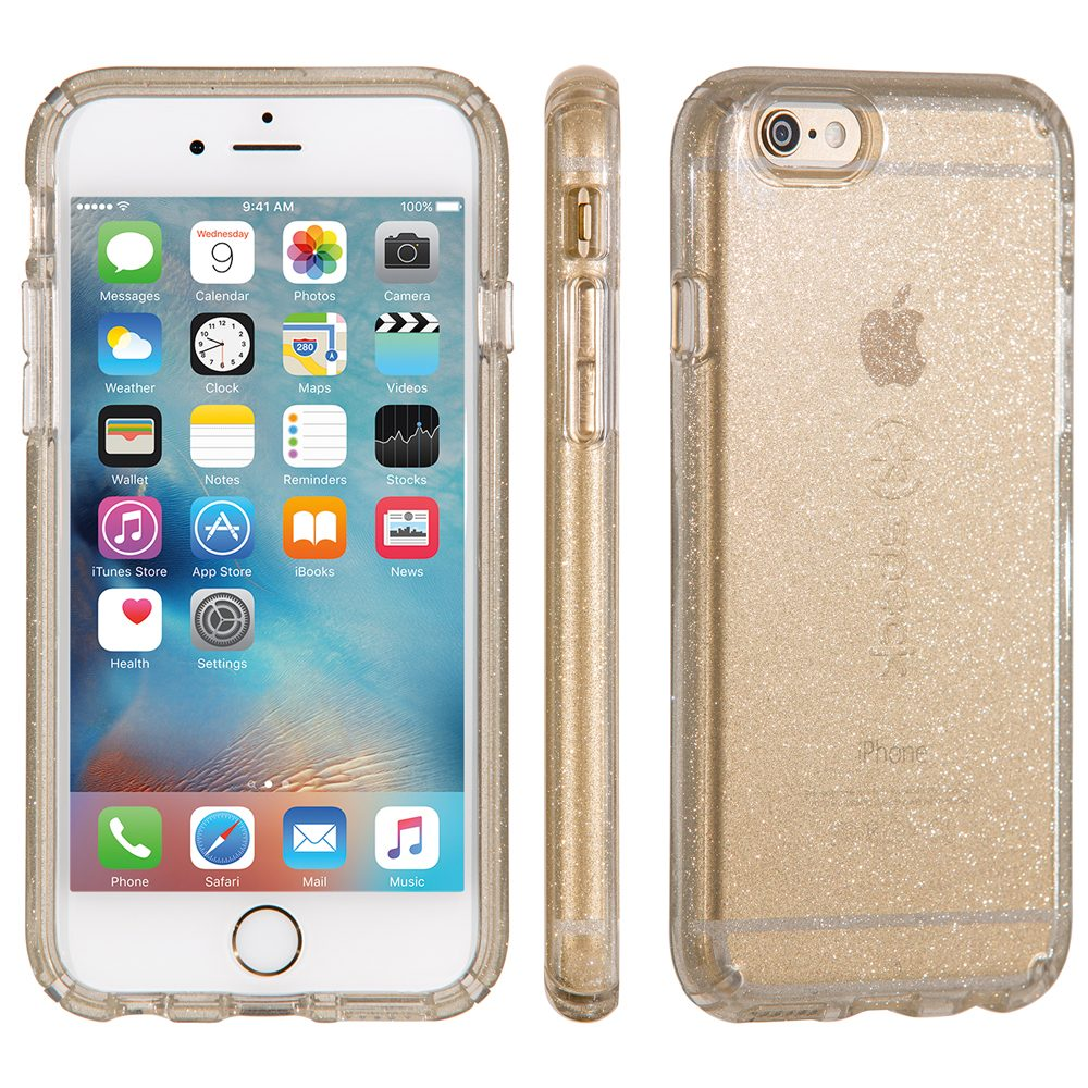 "Speck HardCase »CandyShell iPhone (6/6S) 4.7"" CLEAR GOLD GLITTER«"