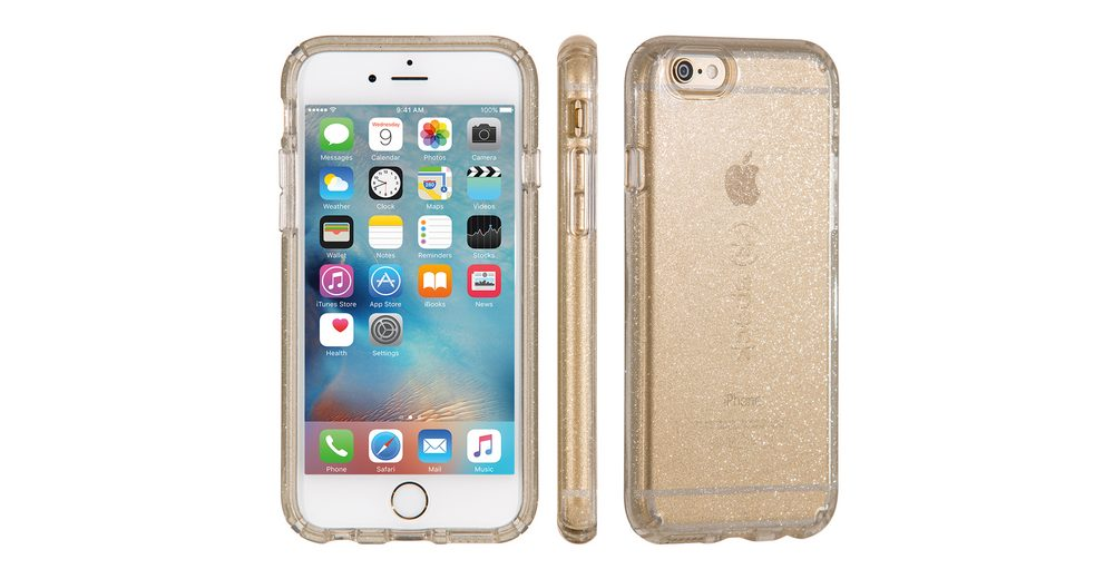 """Speck HardCase »CandyShell iPhone (6/6S) 4.7"""" CLEAR GOLD GLITTER«"""