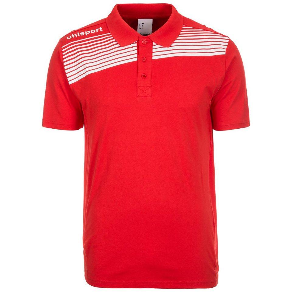 UHLSPORT Liga 2.0 Trainingspolo Herren in rot / weiß