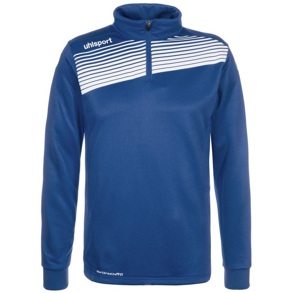 UHLSPORT Liga 2.0 1/4 Zip Trainingssweat Herren in azurblau / weiß
