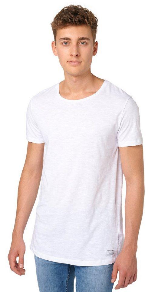 TOM TAILOR DENIM T-Shirt »lässiges Longline-Shirt« in white