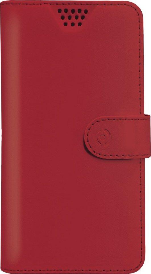 Celly Universelle Handytasche für Geräte von 4,5 - 5,0 Zoll »Wally Unica XL« in rot