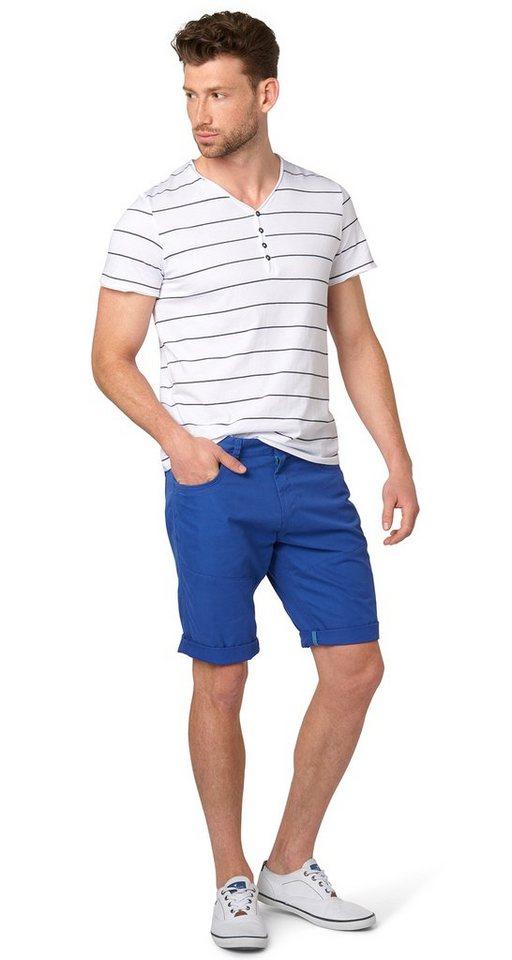 TOM TAILOR Shorts »Jim slim Bermuda« in deep ultramarine blu