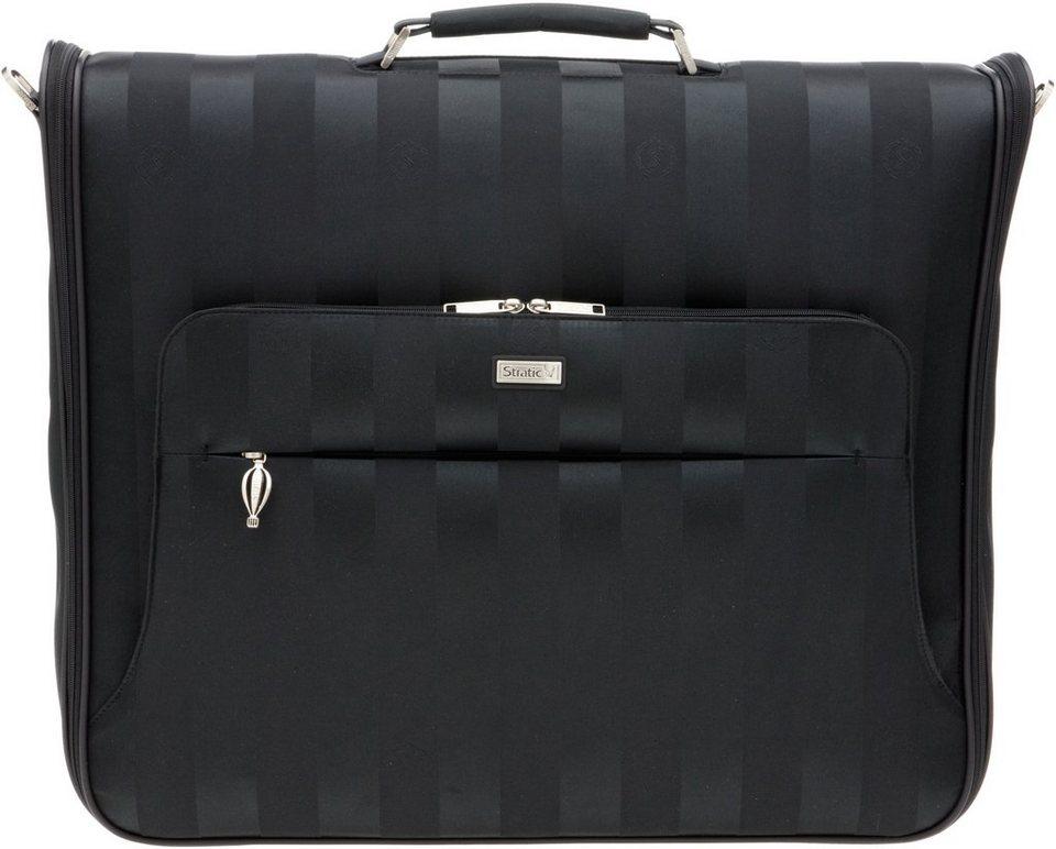 Stratic Handgepäcktasche mit Umhängegurt, »Saphir Kleidersack« in schwarz