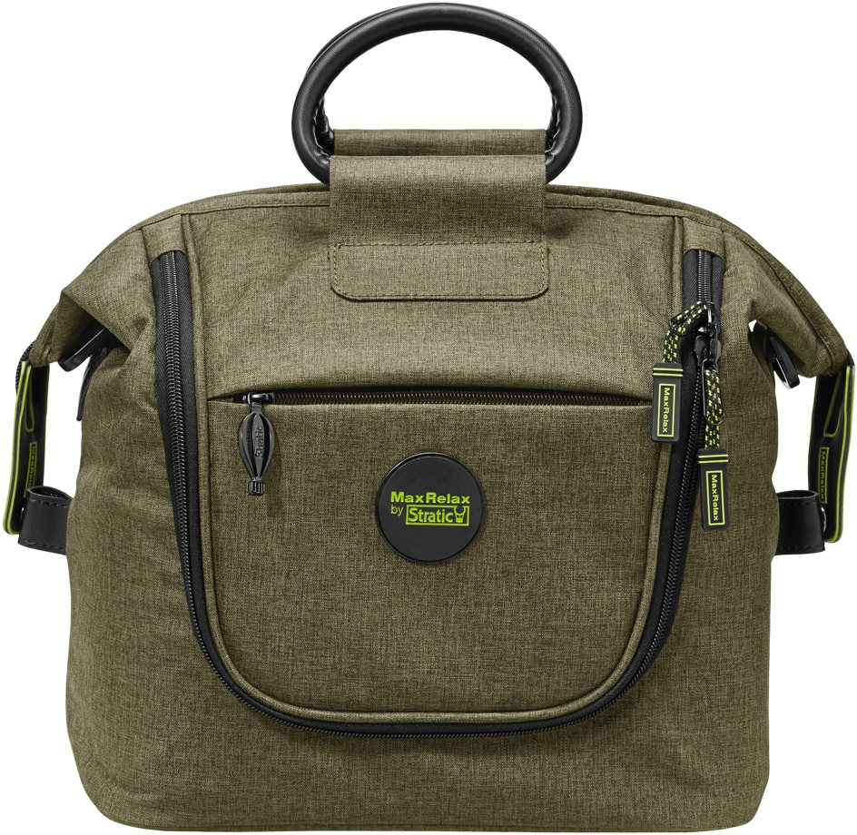 MaxRelax by Stratic 2in1 Beautycase mit Schultergurt, »Whale Beauty Case - Bowling Bag« in khaki
