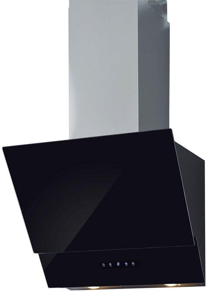 OTTO Kopffreihaube, mit Glasschirm, 612 m³/h, Touch-Control, schwarzglas
