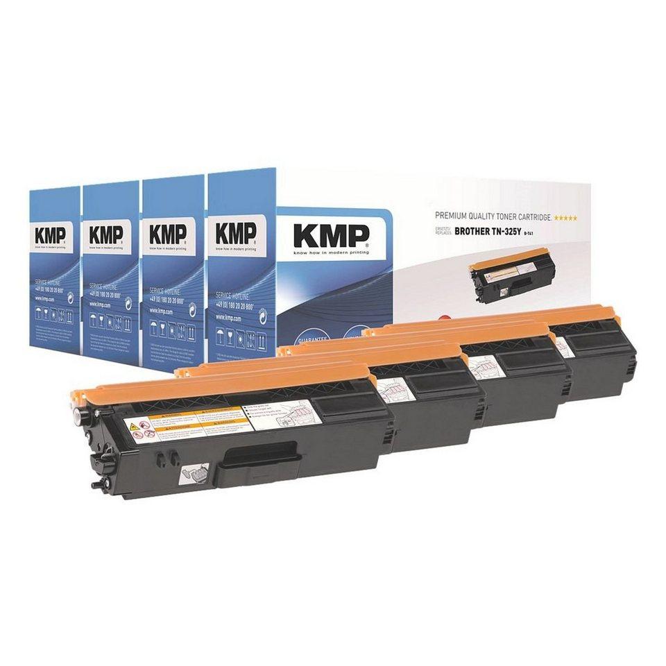 KMP Toner-Set ersetzt Brother »TN-325BK/C/M/Y« in schwarz,cyan,mage...